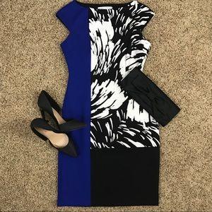 Maggy London Color Block Sheath Dress